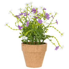 Potted Faux Lilac Field Flower