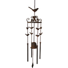 Rust Bell & Birds Metal Wind Chime