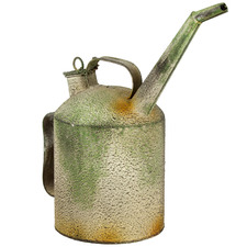 Vintage-Style Metal Oil Can Ornament