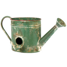 Distressed Green Decorative Watering Can