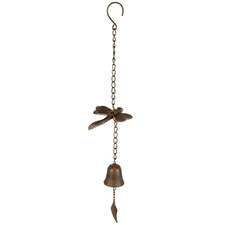 Distressed Dragonfly & Bell Metal Wind Chime