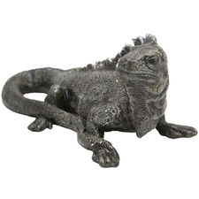 Grey Australian Water Dragon Ceramic Figurine