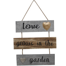 Love Grows in the Garden Wall Sign