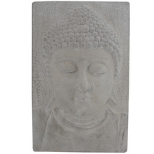 Grey Buddha Concrete Wall Plaque