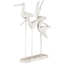 Posing Birds on Stand Statue