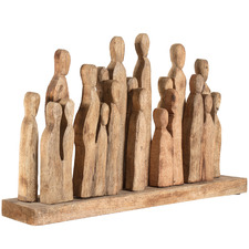 Attracting A Crowd Wooden Figurine