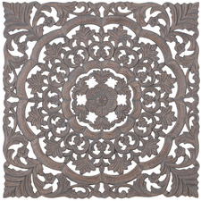 Extra Large Grey Square Medallion Wall Accent