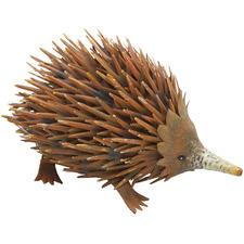 Rust Hedgehog Metal Ornament