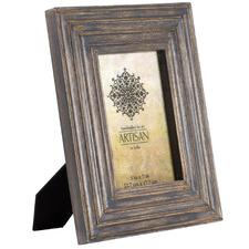 "Antique Grey Artisan 5 x 7"" Wooden Photo Frame"