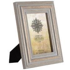 "Natural & Grey Artisan 5 x 7"" Wooden Photo Frame"