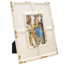 """Distressed Cream 4 x 6"""" Ceramic Photo Frame"""
