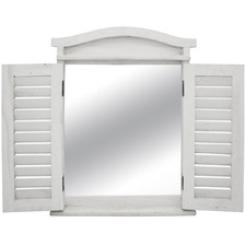 White French Lorette Wooden Wall Mirror