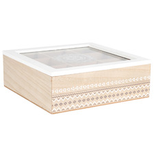 Natural Mandala 9 Compartment Tea Box