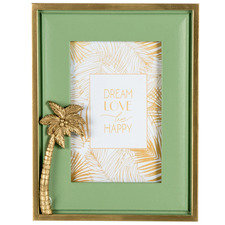 """Green & Gold Luxe Palm 4x 6"""" Photo Frame"""