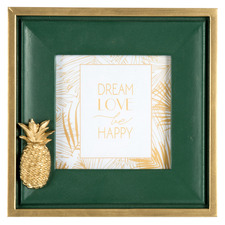 """Green Luxe Pineapple 4 x 4"""" Photo Frame"""