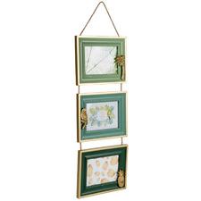"Green Triple 5 x 3"" Hanging Photo Frames"