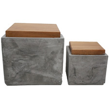 2 Piece Square Concrete Box Set