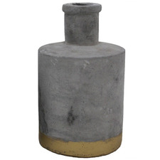 Grey Concrete Decorative Bottle