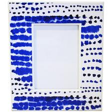 "Blue Shibori 4 x 6"" Photo Frame"