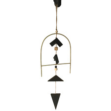 Gold & Black Geometric Zen Metal Wall Hanging
