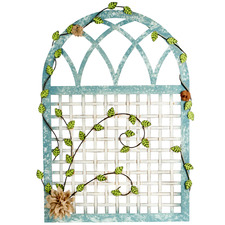 Arched Trellis Metal Wall Accent