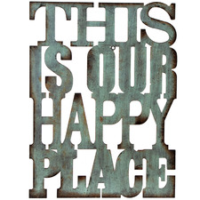 Happy Place Metal Wall Sign
