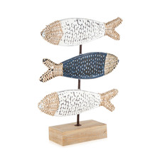 Hamptons Style 3 Fish On Base Decorative Accent