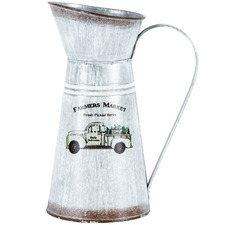 Distressed White Farmers Market Decorative Jug