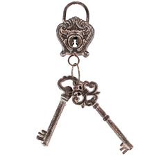 Vintage Style Artisan Lock Keys Wall Accent