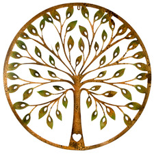 Rust Tree Of Life Metal Wall Accent