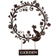 Distressed Brown Metal Garden Wreath
