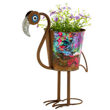 41cm Nature's Art Flamingo Planter