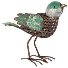 Green Bird Looking Ahead Figurine