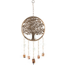 Tree Of Life With Beads & Bells Wall Hanging