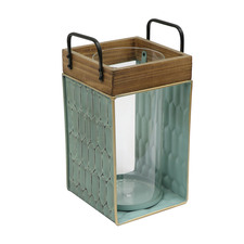 Green Tierra Table Lantern