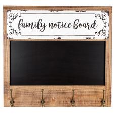 Family Blackboard 4 Hook Wall Hanger