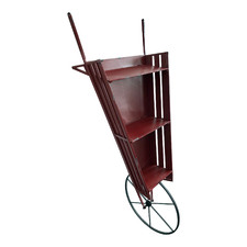 3 Tier Wheelbarrow Wall Shelf