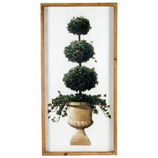 Framed Spiral Topiary Ball Metal Wall Accent