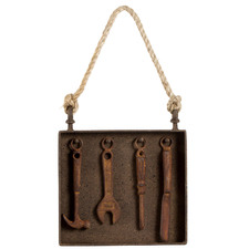 Rust Tools Metal Hanging Wall Accent