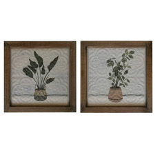 2 Piece Plants Metal Wall Accent Set