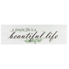 Beautiful Life Wooden Wall Sign