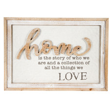 Natural & White Home Wall Sign