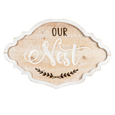 Shabby Chic Our Nest Wall Sign