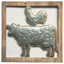 Cow & Chook Metal Wall Accent