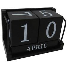 Black Perpetual Desk Calendar