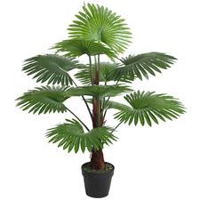 100cm Potted Faux Fan Palm Plant