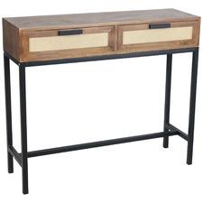 2 Tone Lino Console Table