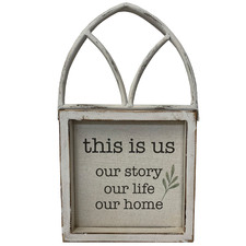 Whitewash This Is Us Arched Ornament