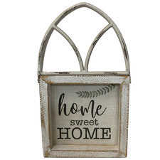 Whitewash Sweet Home Arched Ornament