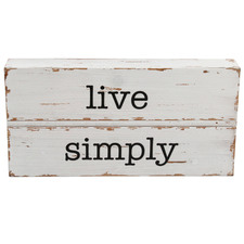 Live Simply Wooden Wall Sign